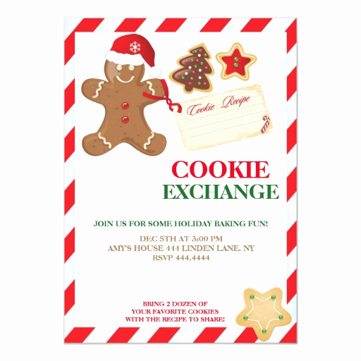 Cookie Exchange Invitation Templates Luxury Holiday Cookie Exchange Swap Invitations