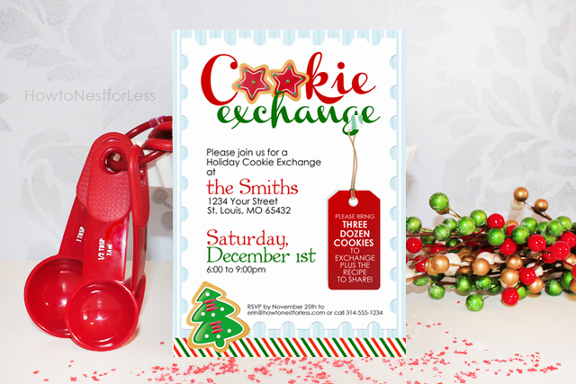 Cookie Exchange Invitation Templates New Cookie Exchange Party Free Printables How to Nest for