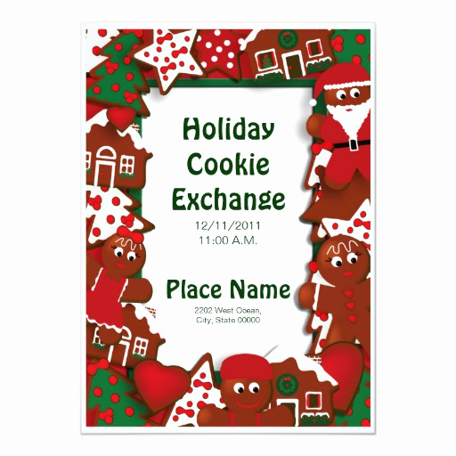 Cookie Exchange Invitation Templates Unique Holiday Cookie Exchange Invitation
