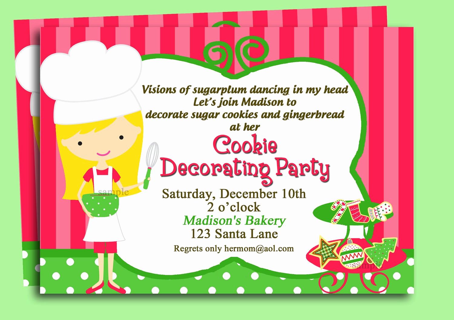 Cookie Exchange Invitation Wording Best Of Christmas Cookie Invitation Printable or Printed with Free