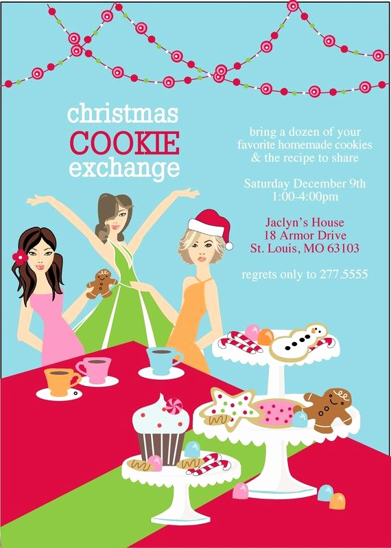 Cookie Exchange Invitation Wording Fresh 17 Best Images About Cookie Exchange Ideas On Pinterest