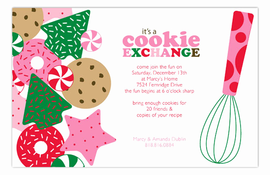 Cookie Exchange Invitation Wording Lovely Its A Holiday Cookie Exchange Invitation