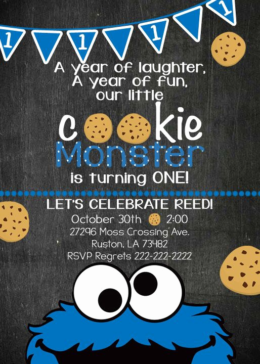 Cookie Monster Invitation Template Luxury 71 Best Invites Images On Pinterest