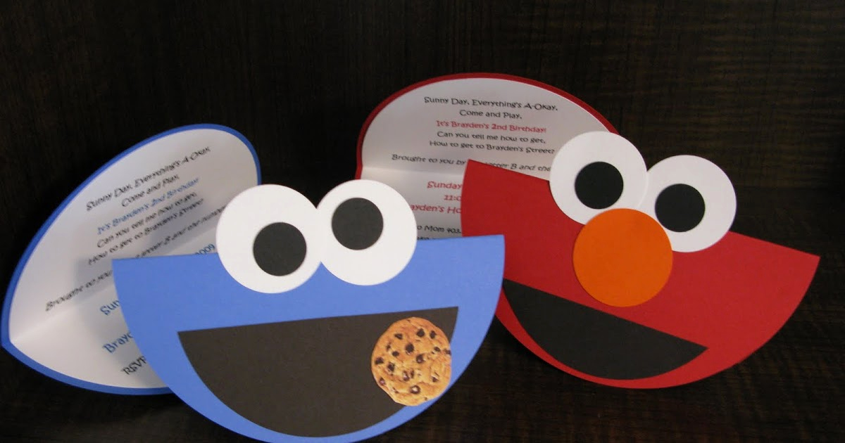 Cookie Monster Invitation Template Luxury Embracing the Three Me S Elmo & Cookie Monster Birthday