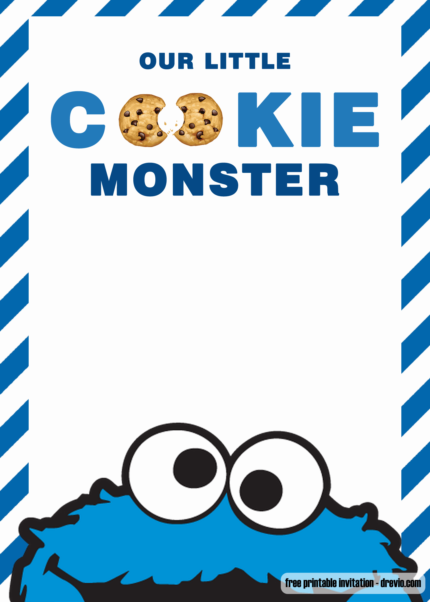 Cookie Monster Invitation Template Luxury Free Cookie Monster Birthday Invitation Templates – Free