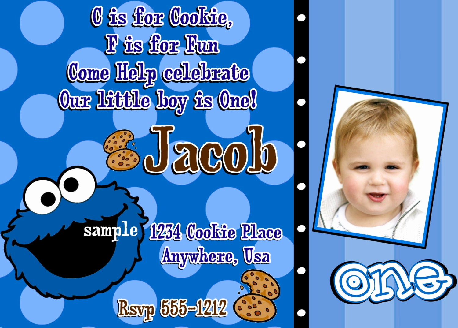 Cookie Monster Invitation Template New Cookie Monster Birthday Invitations Diy Digital Printable