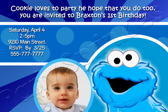 Cookie Monster Invitation Template New Cookie Monster Birthday Invitations Ideas – Bagvania Free