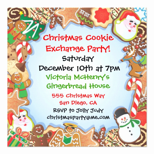 "Cookie Swap Invitation Template Awesome Christmas Cookie Exchange Party Invitation 5 25"" Square"