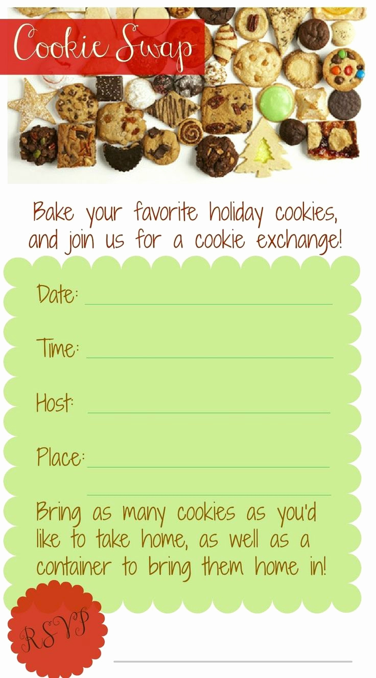 Cookie Swap Invitation Template Beautiful 17 Best Images About Cookie Swap Ideas On Pinterest
