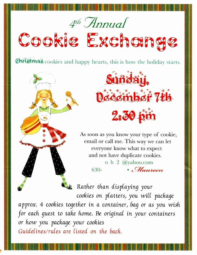 Cookie Swap Invitation Template Beautiful 17 Best Images About Cookie Swap On Pinterest