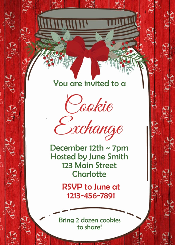 Cookie Swap Invitation Template Beautiful Cookie Swap Invitation Cookie Exchange Invitation