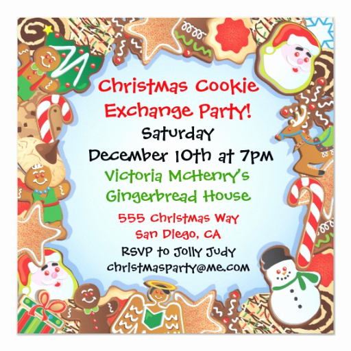 Cookie Swap Invitation Template Best Of Christmas Cookie Exchange Party Invitation