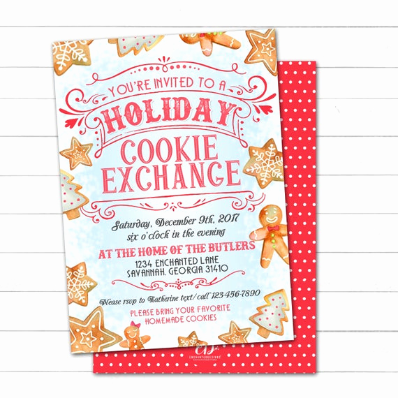 Cookie Swap Invitation Template Elegant Cookie Exchange Invitation Cookie Swap Invite Christmas