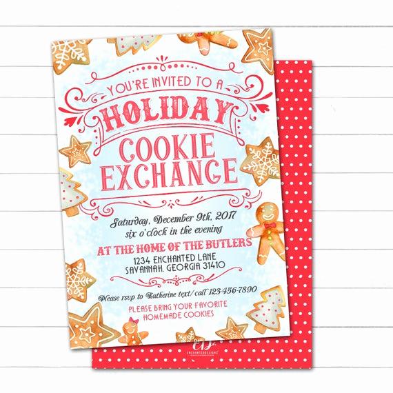 Cookie Swap Invitation Template Elegant Cookie Exchange Invitation Cookie Swap Invite Christmas