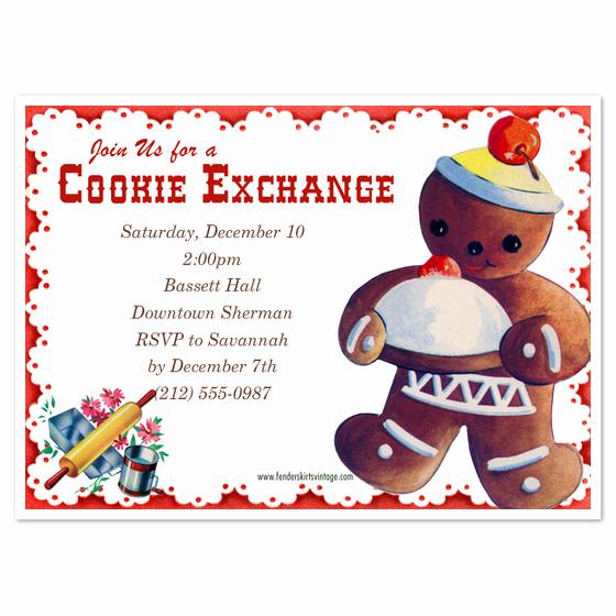 Cookie Swap Invitation Template Elegant Vintage Cookie Exchange Invitations & Cards On Pingg