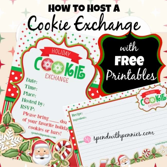 Cookie Swap Invitation Template Fresh How to Host A Cookie Exchange Free Printable Invitations