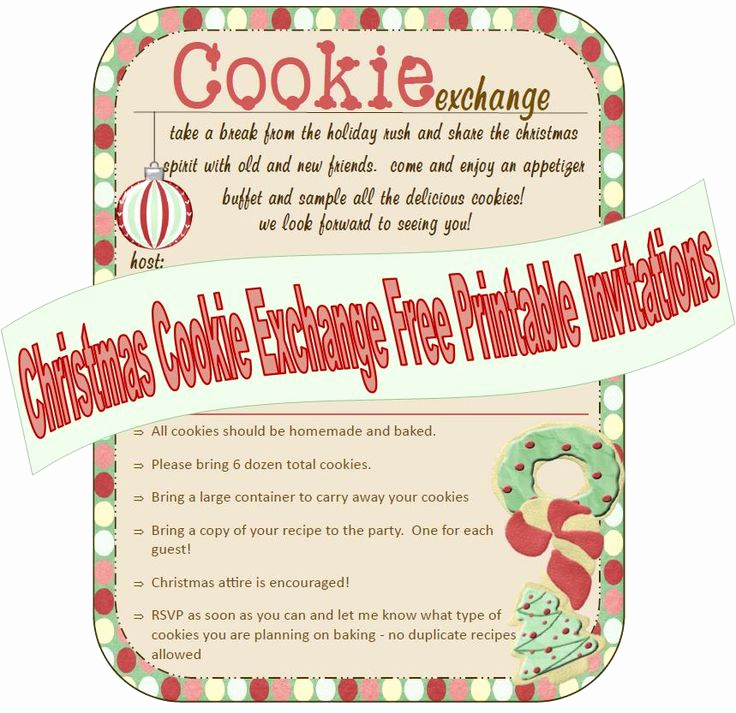 Cookie Swap Invitation Template Inspirational 208 Best Cookie Exchange Ideas Images On Pinterest