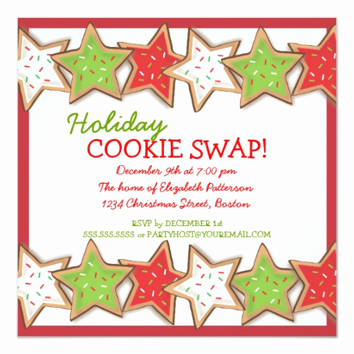 Cookie Swap Invitation Template Inspirational Christmas Cookie Swap Holiday Invitation