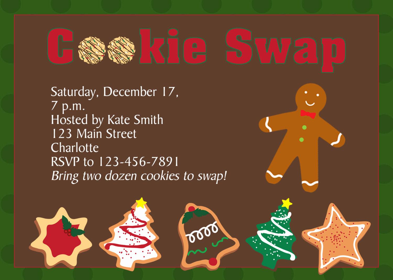 Cookie Swap Invitation Template Inspirational Cookie Swap Invitation Cookie Exchange Invitation Christmas