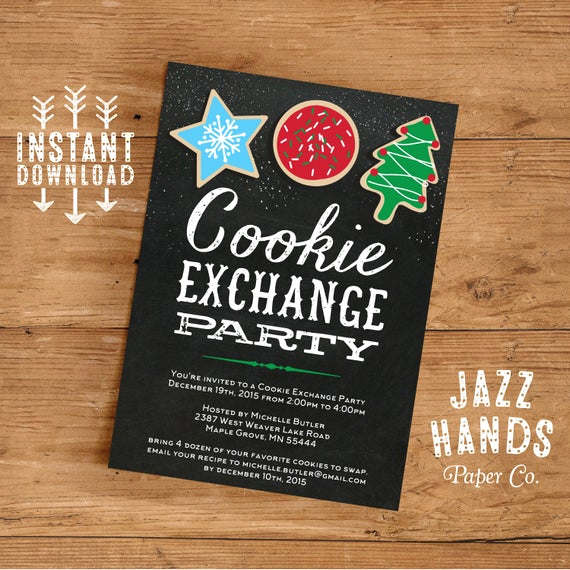 Cookie Swap Invitation Template Lovely Cookie Exchange Invitations Template Diy Printable Cookie