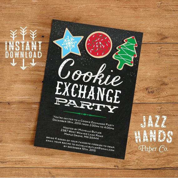 Cookie Swap Invitation Template Lovely Cookie Exchange Invitations Template Diy Printable Cookie