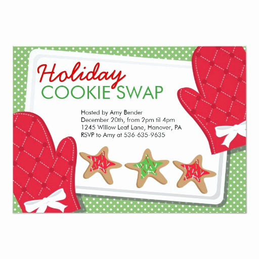 Cookie Swap Invitation Template Luxury Christmas Party Cookie Exchange Invitations