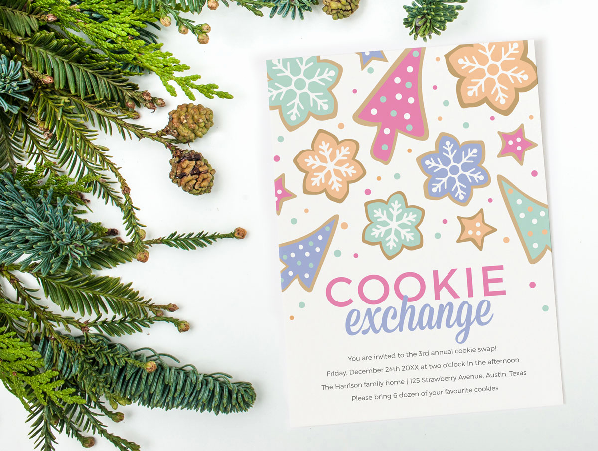 Cookie Swap Invitation Template Luxury Cookie Exchange Invitation Template Invitation Templates