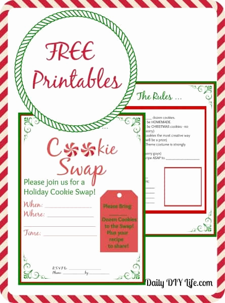 Cookie Swap Invitation Template Luxury Cookie Swap Planning Free Printables