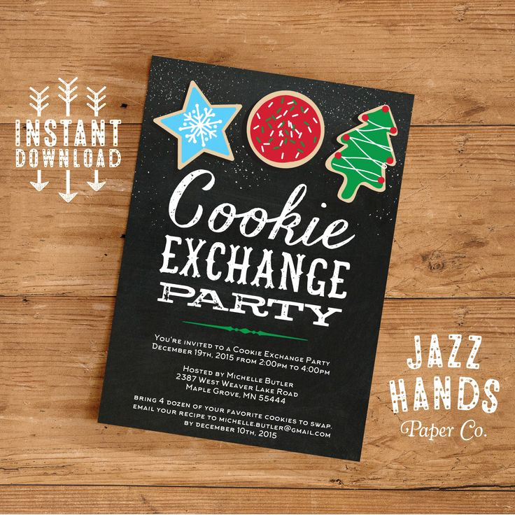 Cookie Swap Invitation Template Unique 7 Best Holiday Party Invitations Images On Pinterest