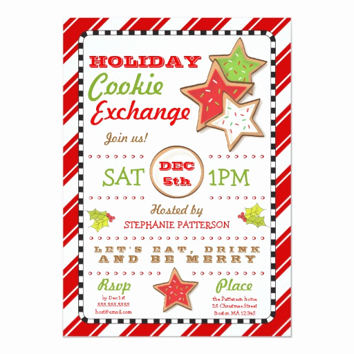Cookie Swap Invitation Template Unique Holiday Christmas Cookie Exchange Invitation