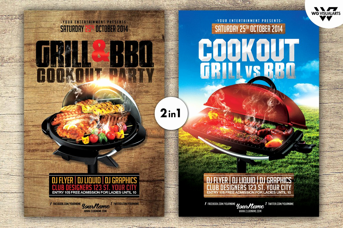 Cookout Invitation Template Free Awesome Grill Bbq Cookout Flyer Template Flyer Templates
