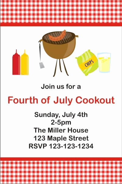 Cookout Invitation Template Free Beautiful Bbq Cookout Invitation Personalized Party Invites