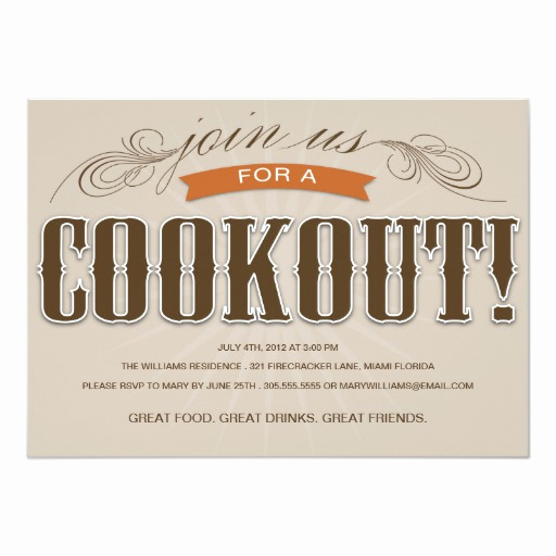 Cookout Invitation Template Free Beautiful Cookout Summer Party Invitation