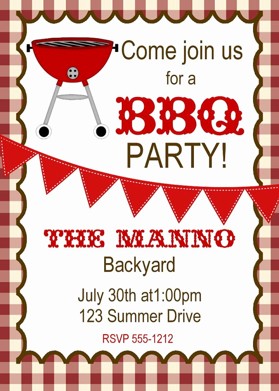 Cookout Invitation Template Free Best Of Printable Cookout Invitations