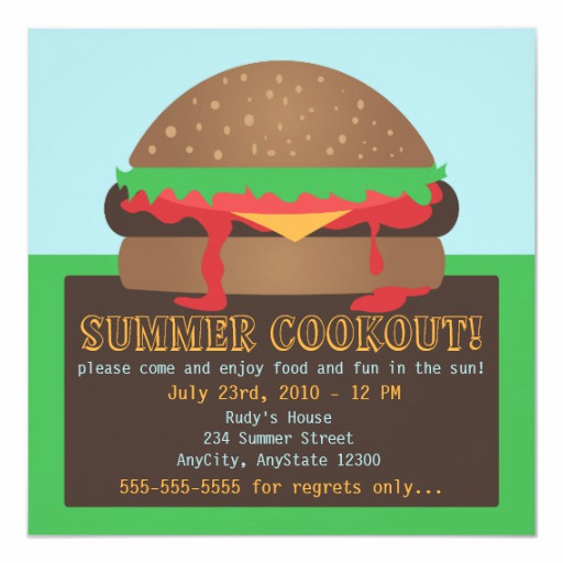 Cookout Invitation Template Free Elegant Summer Cookout Party Invitation