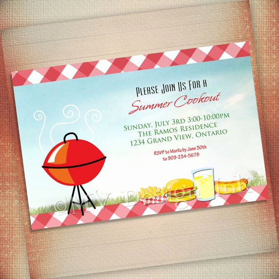 Cookout Invitation Template Free Lovely Summer Cookout Invitation Bbq Party Invite Bbq Birthday