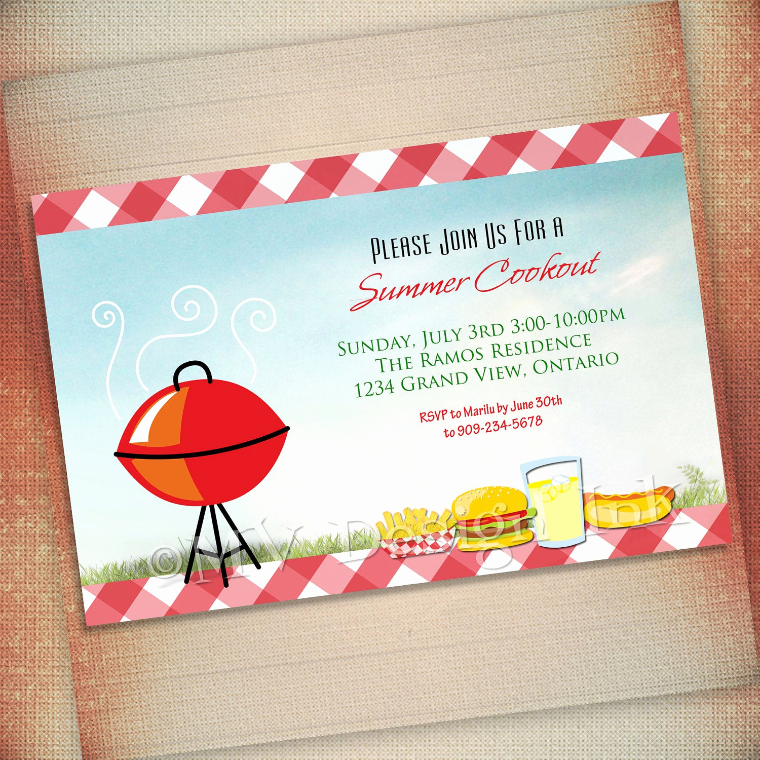 Cookout Invitation Template Free New Summer Cookout Invitation Bbq Party Invite Bbq Birthday