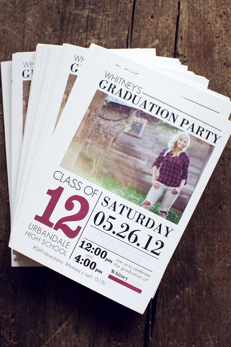 Cool Graduation Invitation Ideas Awesome 17 Best Ideas About Unique Graduation Invitations On