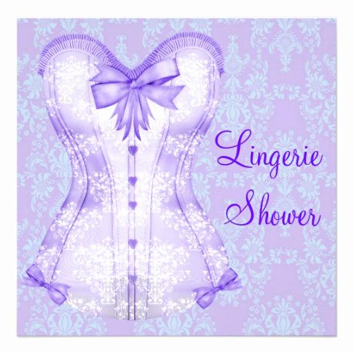 Corset Invitation Template Free Awesome Damask Purple Corset Lingerie Bridal Shower Custom Invite