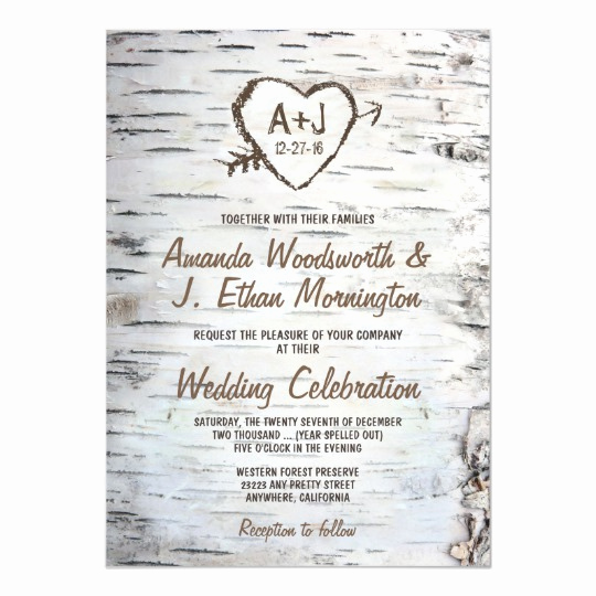 Country Wedding Invitation Ideas Awesome Country Rustic Birch Tree Bark Wedding Invitations