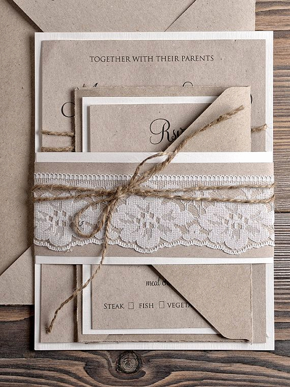 Country Wedding Invitation Ideas Awesome Natural Recycling Paper Wedding Invitation by
