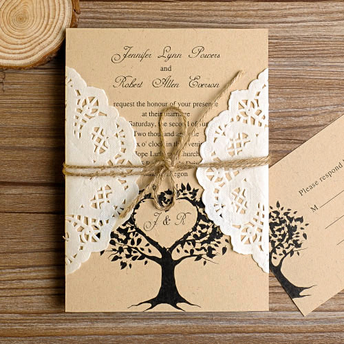 Country Wedding Invitation Ideas Elegant Lace Wedding Invitations at Elegant Wedding Invites
