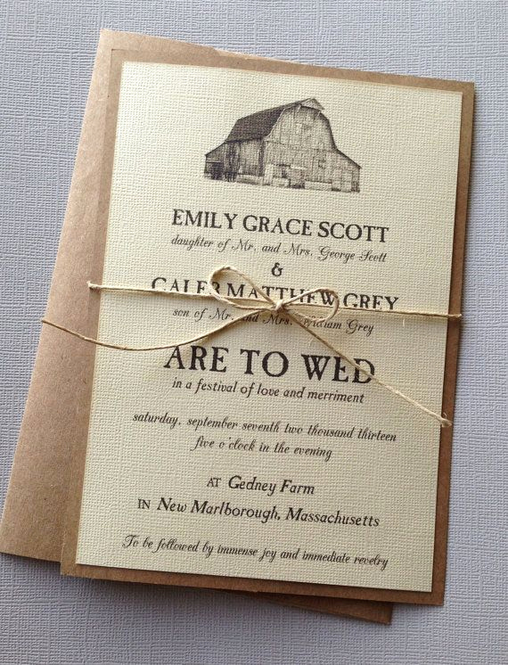 Country Wedding Invitation Ideas Inspirational Best 25 Barn Wedding Invitations Ideas On Pinterest