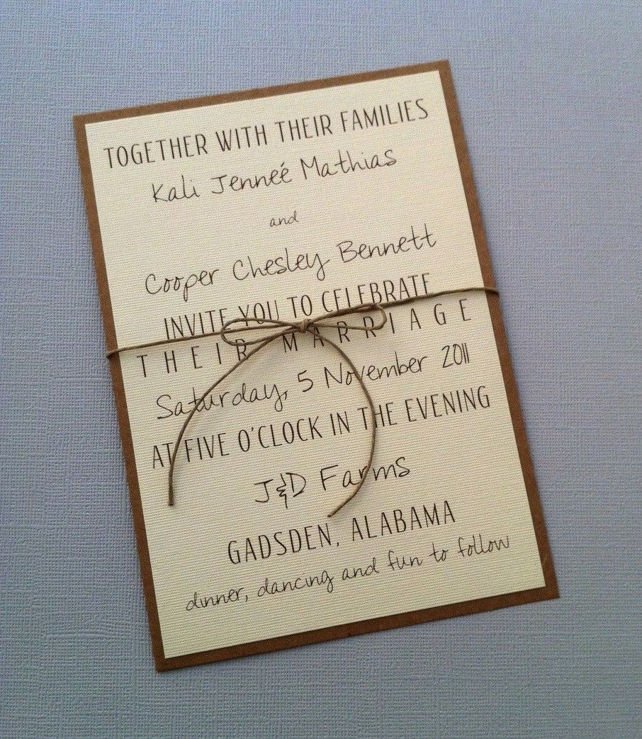 Country Wedding Invitation Ideas Inspirational Rustic Modern Wedding Invitations $2 00 Via Etsy