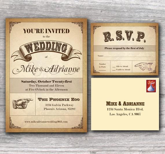Country Wedding Invitation Wording Awesome Items Similar to Western Poster Wedding Invitation Sample