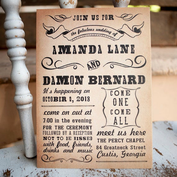 Country Wedding Invitation Wording Awesome Unavailable Listing On Etsy