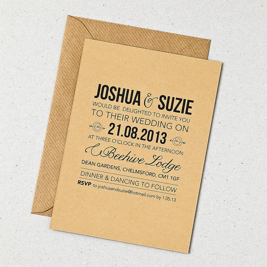 Country Wedding Invitation Wording Beautiful Rustic Style Wedding Invitation by Doodlelove