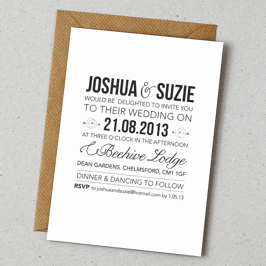 Country Wedding Invitation Wording New Rustic Style Wedding Invitation by Doodlelove