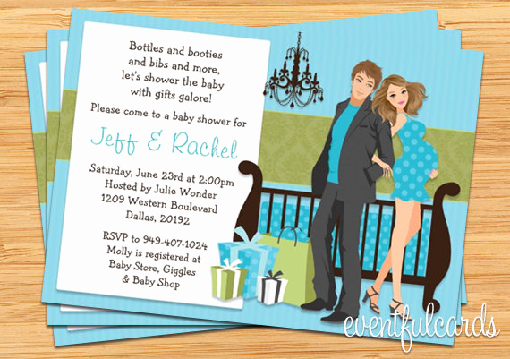 couples baby shower invitation wording
