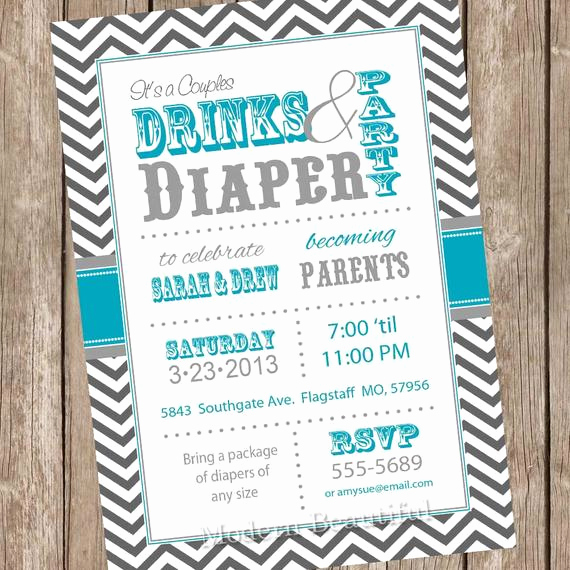 Couple Baby Shower Invitation Elegant Couples Baby Shower Invitation Co Ed Baby Shower Invitation